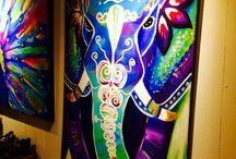 elephants/art/design / Inspiration for my new room