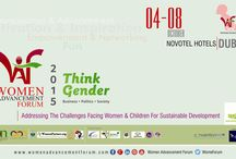 THINK GENDER / Women Advancement Forum - WAF 2015 & Awards will take place on 4-8 October, 2015 at Novotel (WTC), Dubai, UAE.