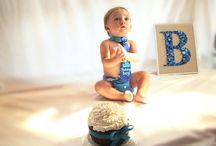 Bentleys first birthday cake smash