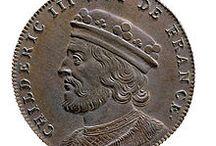 Childéric III (714 + v.755) Roi des Francs (743-751) / Roi des Francs (743-751). Préd: interrègne (Thierry IV) suc: Pépin le Bref. Mérovingien né vers 714, décédé vers 755. Enfant: THIERRY.