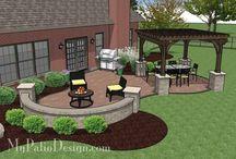 Concrete pavers patio