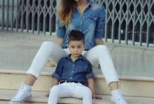 Mom and son fashion