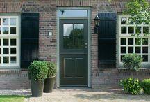 Kleine Struyten - nieuwe voordeur en serredeuren