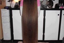 długie włosy