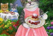 Bridget Voth Cat Art