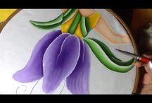 pintura en tela, proyecto Marzo con Cony