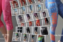 Active wear - Leggings / Designers Elaine Chamber and Casey Coolwell.  Have created these deadly style leggings perfect for any outing.  Available in full length and 3/4.  Kids and adult sizes!