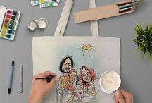 Hand Draw Totebag