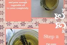 barattoli con foto e fiori nell' olio vegetale
