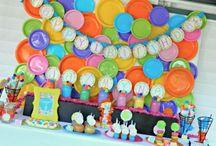 Bubbles Polkadot Girl Party