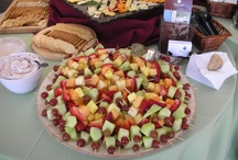 fruit skewers/cracker/dips