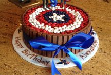 captain america bday cake