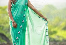 Baby Pink Rose Flowers on a Sea Green Pure Silk Georgette Saree / PRICE INR 8,493/- US$ 128.68 Click here https://www.eastandgrace.com/products/green-with-pink-rose Featuring a sea green pure silk chiffon saree with baby pink ribbonwork roses all along the edges. The delicate pink roses and the fresh, crisp green make for a charming twosome. care@eastandgrace.com #eastandgrace