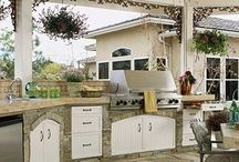 Kitchens / Full functioning kitchens outdoor.  Perfect for grilling, visiting, and sharing great food! / by Tulsa Landscape