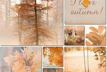 Fall / Autumn in gold, yellow and brown