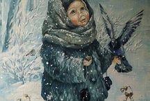 zimní obrázky