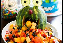 Monster theme fruit  plate