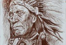 i Nativi Americani - opere di pittura e grafica