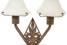 Art deco and art noveau lamps
