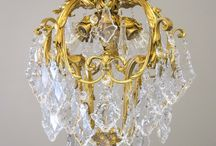 Period Chandeliers / We love crystal, colonial crystal, notched crystal, cut crystal, all of it!