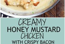 CREAMY MUSTARD CHICKEN AND BACON