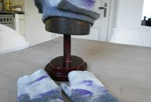 Felted hats and objects
