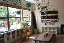 Nature classroom / Easy on the eye - nature inspired classroom - great for kids with autism - and sensory ideas
