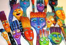 Recycled paintbrushes