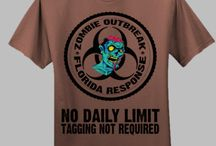Zombie T-Shirts / A fine collection of zombie t-shirts. Are you ready for the Zombie Apocalypse?