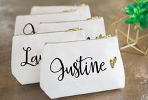 """{ Bridesmaid Gifts } / -- """"a happy bridesmaid makes a happy bride."""" Alfred Lord Tennyson -- """"life is better with true friends"""""""