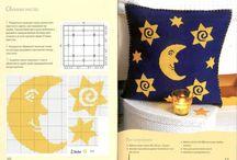 Schemi punto croce luna e stelle