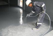 Rust Bullet Concrete Floor Applications / Rust Bullet for concrete is better than any epoxy on the market for protecting your garage floor. Rust Bullet is also easier to apply and prep is minimal. No mixing and no acid etching required!