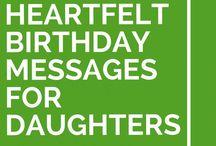 Daughter birthday verses