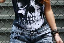 Grunge/Rock/Skull/Skeleton/ Clothes/ Peoples