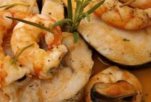 Seafood and fish recipes/ Receitas de peixe e marisco