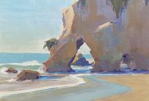 Inspiration: Paintings - Plein Air, Landscape / Realistic and fantasy landscapes, variety of styles to study