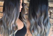 pelo de colores gris