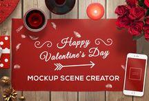 Valentine Mockup Scene Creator / Valentine Mockup Scene Creator PSD Photoshop file with 90+ objects. File resolution 5000x3200 px / 300 DPI.