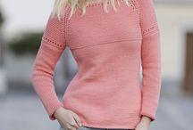 Gebreide dames truien en jurken/ Knitted ladies sweaters and dresses