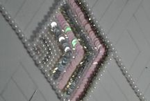 bead and sequin geometrical