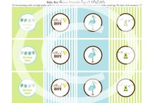 Printable Party Designs (Cupcake toppers, Water bottle labels...)