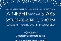 A Night under the Stars / Join us on Saturday, April 2, for the Visual Arts Center of New Jersey's Spring Gala, A Night Under the Stars.   GALA and LIVE AUCTION   6 PM Cocktails  |  Formal Dinner  |  Live Art Auction  AFTER PARTY and SILENT ART AUCTION   8:30 PM Dessert  |  Silent Art Auction  |  Music