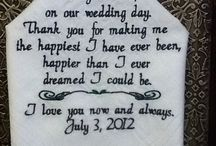 Embroidered personalized Wedding Day Handkerchiefs we carry at BFS