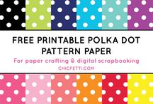 Printables: scrapbook paper, pictures, graphics