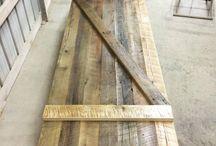 Slider Barn Doors / We custom make slider barn doors of all sizes. Learn more on our website! www.woodstockvintagelumber.com