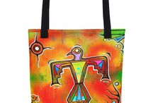 David Strickland Bags / Bags with David Strickland Art