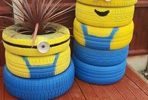 Tyre and wheel ideas / Make from tyres