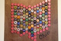 My Bottle Cap Art / State Pride. Beer Pride. Support your State, the Beer you love and local Art. This summer I started a little business making bottle cap art called Bradford's Bottle Cap Business, selling customized Ohio art. If you want a different state, american flag colors, the color of your college or school, I can do it all. Feel free to contact me if you want to place an order or have any questions by email at abradfo6@kent.edu or at craftedohio.wordpress.com