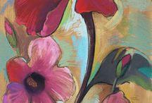 tekening van blom