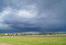 Tempelhofer feld, Berlin / cloud shots and weather changing